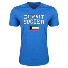 Kuwait Soccer V-Neck T-Shirt