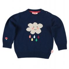 childrens kids jumper sweater knitwear knitted girls boys cloud blue unisex