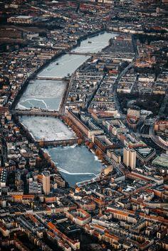 Urban Photography, Fine Art Photography, Amazing Photography, Denmark Landscape, Copenhagen City, Travel Europe, Aerial View, Wander, City Photo