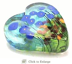 Paperweight Heart in Hand Blown Art Glass By Robert Held