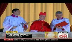 El miércoles 13 de marzo, el cardenal francés Jean-Louis Tauran camino al balcón principal de la Basílica de San Pedro, acompañado de dos curas y anunció ¡Habemus Papam!, y procedió a nombrar el nombre del cardenal que fue elegido: Jorge Mario Bergoglio, que eligió el nombre de Francisco. http://cnnespanol.cnn.com/2013/03/13/francisco-i-el-primer-papa-latinoamericano/