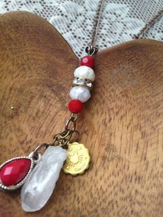 Cancer astrology ruby necklace on Etsy, $32.00
