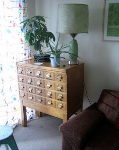 desire to inspire - desiretoinspire.net. I love the idea of using card catalogues as furniture at home. Where can I get one :-)