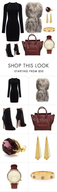 """#12"" by jenell20 on Polyvore featuring T By Alexander Wang, PINGHE, Alaïa, CÉLINE, Panacea, Komono and Tory Burch"