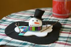 Melted snowman craft…cute idea!