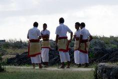 Boy's school uniforms on the island of Tonga