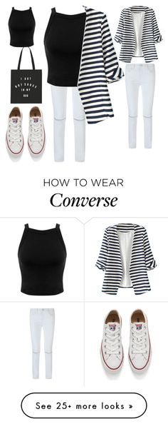 """""""Untitled #444"""" by aminamuratovic3 on Polyvore featuring Rebecca Minkoff, Miss Selfridge, WithChic, Converse, women's clothing, women, female, woman, misses and juniors"""