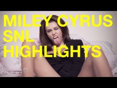 Miley Cyrus from Saturday Night Live Miley Cyrus Songs, Saturday Night Live, Music Mix, Snl, Rebel, Highlights, Youtube, Luminizer, Hair Highlights