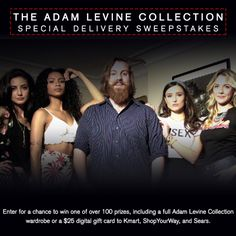 I just entered to win a Full Adam Levine Collection.