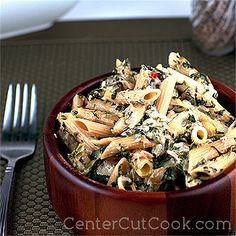 Tuna Casserole with a Twist - This is not your Grandma's Tuna Casserole. Tender tuna, spinach, whole-wheat penne and a blend of spices come together for this Tuna Casserole with a twist.