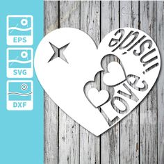 Excited to share the latest addition to my #etsy shop: SVG - Love inside http://etsy.me/2nZc0E9 #art #drawing #laserdiecut #cutout #stencil #craftcut #papercut #paperart #scrapbooking