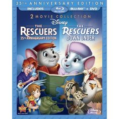 Title: The Rescuers & The Rescuers Down Under | Number of Discs: 3 | Format: Blu-ray/DVD