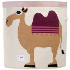Decoración Infantil - Cesto redondo camello