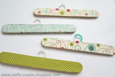 crafty couple: American Girl Doll Hangers-need to make!
