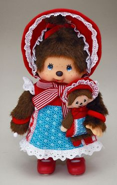 """258500 Monchhichi S Size 8"""" Plush MCC Modern Doll with her Buddy - Mimi Collection ~ Shop of Ball Joint Doll accessory (Mimiwoo)"""