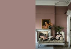 Farrow and Ball Paint Sulking Room Pink Room Colors, Farrow And Ball Living Room, Master Bedrooms Decor, Bedroom Decor, Bedroom Color Schemes, Bedroom Colors, Pink Living Room, Living Room Diy, Pink Dining Rooms