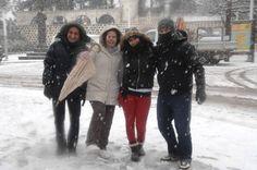 La histórica nevada sobre Gran Canaria convierte la cumbre en una gran fiesta