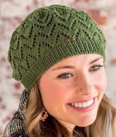 Knitting Patterns Free Knitting Pattern for Salunga Beret -Lace hat designed by Heather Zoppetti for Interweave.Free Knitting Pattern for Salunga Beret -Lace hat designed by Heather Zoppetti for Interweave. Lace Knitting, Knitting Patterns Free, Knit Patterns, Crochet Lace, Knitting Tutorials, Vintage Knitting, Crochet Granny, Free Crochet, Stitch Patterns