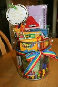 DIY Gift Basket, maybe for a friend or family member who is a teacher or will be