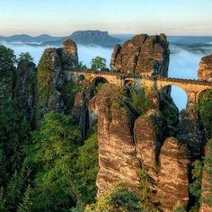 Bastei Bridge, Elbe Sandstone Mountains in Germany