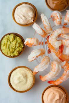 Five Sauces for Shrimp Cocktail (Image credit: Christine Gallary) I have to confess that I'm a shrimp cocktail lover, retro and old school as the appetizer is. It's so simple and elegant at the same time, and it's light enough that Shrimp Appetizers, Shrimp Recipes, Appetizer Recipes, Antipasto, Chutney, Shrimp Dipping Sauce, Dipping Sauces, Shrimp Cocktail Sauce, Seafood Cocktail