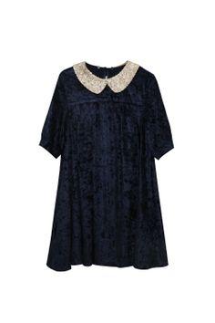 Velvet Spangle Collar Dress http://www.thewhitepepper.com/collections/dresses/products/velvet-spangle-collar-dress