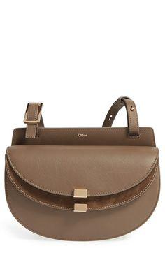 CHLOÉ 'Mini Georgia' Crossbody Bag. #chloé #bags #shoulder bags #lining #crossbody #suede