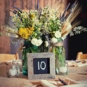 sunflower centerpiece with wildflowers and votives - Google Search