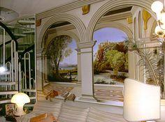 Incorporar la naturaleza en las paredes:  https://www.homify.com.ar/libros_de_ideas/682896/7-falsas-perspectivas-o-trompe-l-oeil-geniales