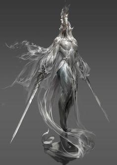 Art by gu junyi Fantasy Demon, Demon Art, Dark Fantasy Art, Dark Art, Fantasy Character Design, Character Design Inspiration, Character Art, Creature Concept Art, Creature Design
