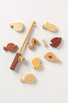 Fresh Cut Fishing Set - Anthropologie  Perfect for practicing until she's big enough to go with papa!