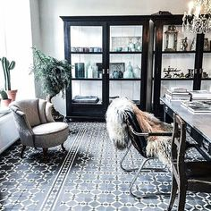 Floor tiles and furniture
