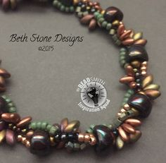 Playing with nano beads. Sierra Spiral. Seed beads. Beth Stone Designs