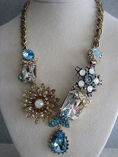 Wedding Jewelry: Repurposed vintage jewelry. It's amazing what some people can do.