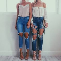 35 Ways To Rock Ripped Jeans - Style Spacez