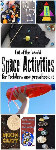Have some out of this world fun with these fantastic space activities for toddlers and preschoolers that you and your little ones can do together. Outer Space Activities for Kids Toddlers And Preschoolers, Science For Toddlers, Preschool Science, Science For Kids, Toddler Preschool, Parenting Toddlers, Science Space, Summer Science, Science Fun