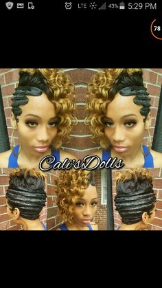 TOP 25 Cute Updos for Natural Hair for Black American Woman - Trends 2018 Quick Weave Hairstyles, Girl Hairstyles, American Hairstyles, Vintage Hairstyles, Braided Hairstyles, Curly Hair Styles, Natural Hair Styles, Hair Due, Black Girl Braids