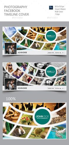 Photography Facebook Timeline Cover  — PSD Template • Only available here ➝…