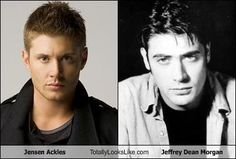 Jensen Ackles Totally Looks Like Jeffrey Dean Morgan... Well then. I don't even know what to say.