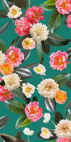 Flower Party REMOVABLE Fabric Wallpaper - Peel & Stick!