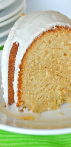 Baileys Irish Cream Cake made ALL from Scratch. Tender, Moist with just the perfect amount of Baileys!  Delicious any time but incredible  for Saint Patrick's Day!!!
