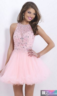 Homecoming Dress,Pink Backless Dres