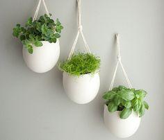 Hanging Porcelain Rope Planter - Farrah Sit - Designer Spotlight Uncovet