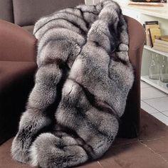 silver fox fur blanket love if it was faux Fox Fur Coat, Fur Coats, Faux Fur Bedding, Warm Blankets, Throw Blankets, Interior Rugs, Fur Rug, Fur Accessories, Fur Blanket