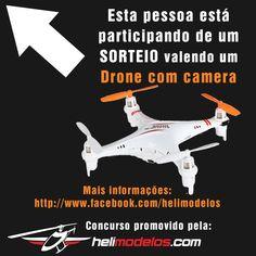 Participe você também do sorteio de um drone com camera, promovido pela Helimodelos.com