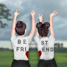 A true friend is a human who, while your . A true friend is a person who sees your laughter, but feels your soul is crying Best Friend Sketches, Friends Sketch, Best Friend Drawings, Girly Drawings, Cute Drawings Of Love, Cute Sketches, Cute Girl Drawing, Best Friend Pictures, Bff Pictures