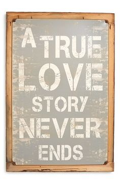 Free shipping and returns on PONCHO & GOLDSTEIN 'True Love Story' Sign at Nordstrom.com. Surprise your favorite someone with an American-made sign that's as weathered and wonderful as a long sweet romance. All Poncho & Goldstein signs are sublimated, hand-sanded and rusted before being mounted on a vintage wooden frame. Because of the company's unique distressing process, each one comes out a little different.