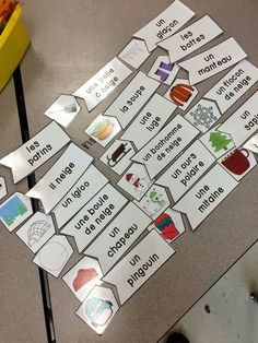 Primary French Immersion Resources: Science - grade 1 seasonal changes and winter vocabulary!