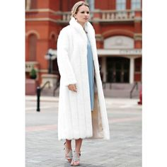 Donna Salyers' Fabulous-Furs Signature Shawl Collar Coat (365933701) featuring polyvore, women's fashion, clothing, outerwear, coats, white mink, shawl collar coat, white coat and fur-lined coats