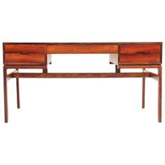 Rosewood Desk Designed By Arne Wahl Iversen, Denmark. | 1stdibs.com